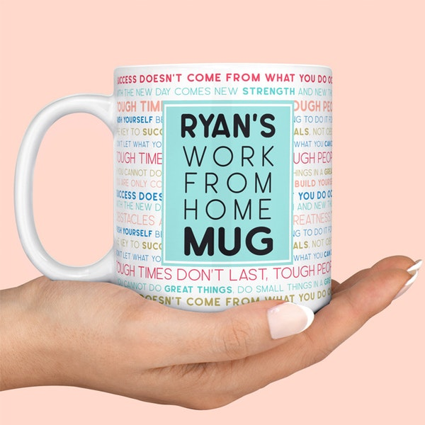 Personalized 'Work from Home' Mug